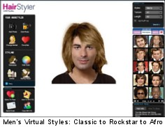 Upload your photo, try men's virtual hairstyles